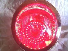 LED halo rings angel eyes red leds small 8cm streetfighter trike